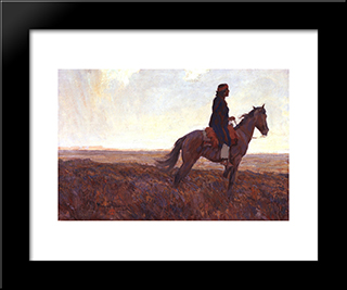 The Navajo: Modern Black Framed Art Print by Maynard Dixon