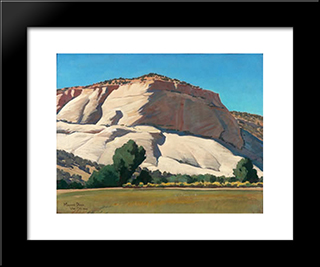 White Butte, Utah: Modern Black Framed Art Print by Maynard Dixon