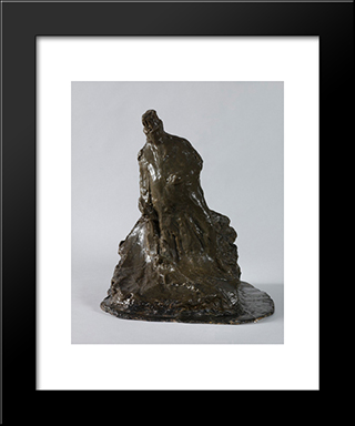 Bookmaker: Modern Black Framed Art Print by Medardo Rosso