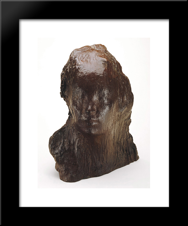 Ecce Puer (Behold The Child): Modern Black Framed Art Print by Medardo Rosso