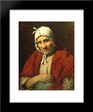 Old Jewish Woman: Modern Black Framed Art Print by Meijer de Haan