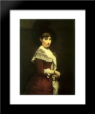 Portrait Of A Young Jewish Woman: Modern Black Framed Art Print by Meijer de Haan