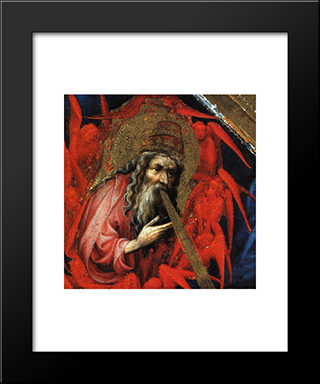 God The Father (From Altar Of Philip The Bold): Modern Black Framed Art Print by Melchior Broederlam