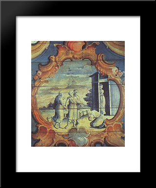 Abrao Adora Os Tres Anjos: Custom Black Wood Framed Art Print by Mestre Ataide