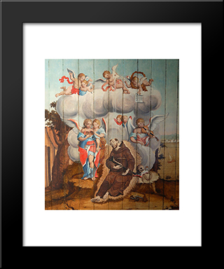 Agonia E Morte De So Francisco: Custom Black Wood Framed Art Print by Mestre Ataide