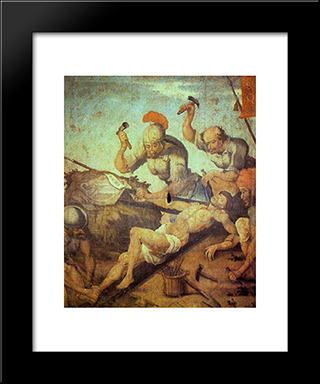 Crucifixion Of Christ: Modern Black Framed Art Print by Mestre Ataide