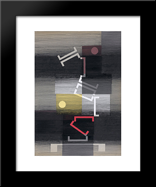 Calme Et Capricieux: Modern Black Framed Art Print by Michel Seuphor