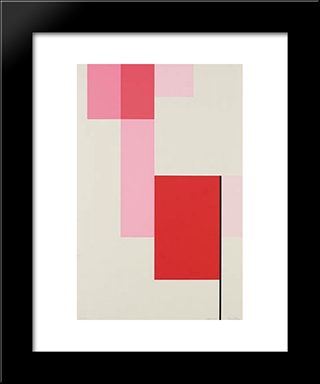 Composition: Modern Black Framed Art Print by Michel Seuphor