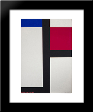 Composition Ii: Modern Black Framed Art Print by Michel Seuphor
