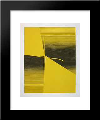 Duo - Duel: Modern Black Framed Art Print by Michel Seuphor