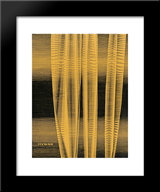 Hymne: Modern Black Framed Art Print by Michel Seuphor