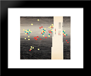 Le Carillon Des Flandres: Modern Black Framed Art Print by Michel Seuphor
