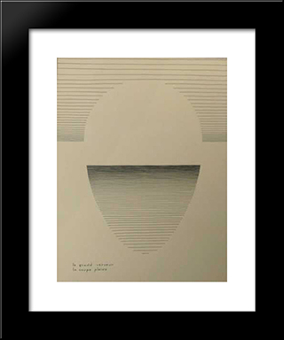 Le Grand Verseur - La Coupe Pleine: Modern Black Framed Art Print by Michel Seuphor