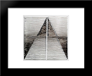 Perpetuum Mobile: Modern Black Framed Art Print by Michel Seuphor