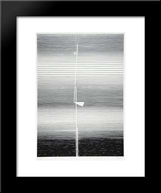 Untitled: Modern Black Framed Art Print by Michel Seuphor