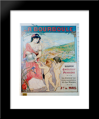 Affiche La Bourboule: Modern Black Framed Art Print by Michel Simonidy