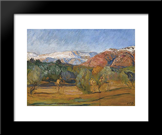 Alpes Maritimes Landscape: Modern Black Framed Art Print by Michel Simonidy