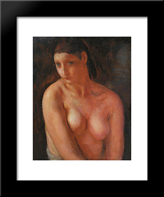 Bust De Jeune Fille: Modern Black Framed Art Print by Michel Simonidy