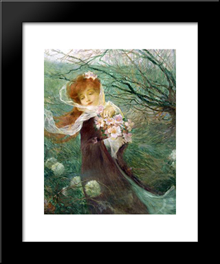 Winter Perfume: Modern Black Framed Art Print by Michel Simonidy