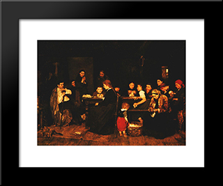Pluckmakers: Modern Black Framed Art Print by Mihaly Munkacsy