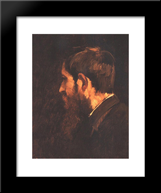 Portrait Of Laszlo Paal: Modern Black Framed Art Print by Mihaly Munkacsy