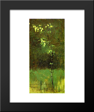 A Tree In Blossom: Modern Black Framed Art Print by Mikhail Nesterov