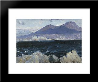 Adriatic Sea: Modern Black Framed Art Print by Mikhail Nesterov