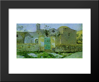 Capri. Entrance To Monastery.: Modern Black Framed Art Print by Mikhail Nesterov