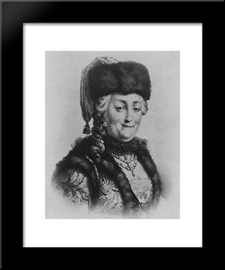 Catherine The Great: Modern Black Framed Art Print by Mikhail Shibanov