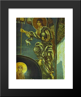 Angel With Labara: Modern Black Framed Art Print by Mikhail Vrubel