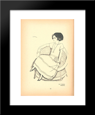Contemporanea Magazine, No. 5, Desenho: Modern Black Framed Art Print by Mily Possoz