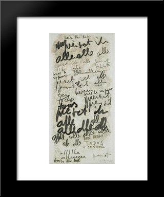 Untitled (Alle): Modern Black Framed Art Print by Mira Schendel