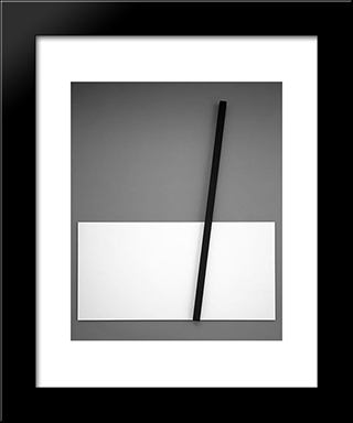 Untitled (From Splints): Modern Black Framed Art Print by Mira Schendel