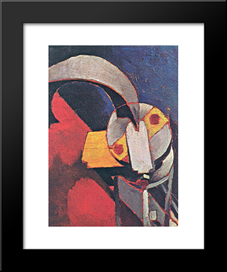 Machine Form: Modern Black Framed Art Print by Morton Shamberg