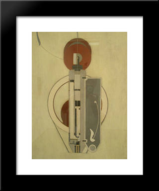Painting Viii (Mechanical Abstraction): Modern Black Framed Art Print by Morton Shamberg