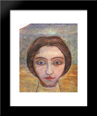 Portrait Of A Woman: Modern Black Framed Art Print by Mykhailo Boichuk