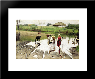 A Ford: Modern Black Framed Art Print by Mykola Pymonenko