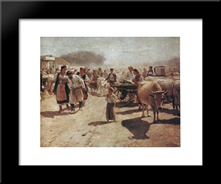 Fair: Modern Black Framed Art Print by Mykola Pymonenko