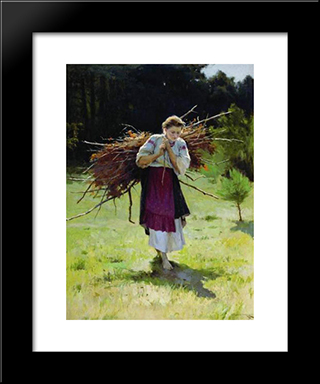 From The Forrest: Modern Black Framed Art Print by Mykola Pymonenko