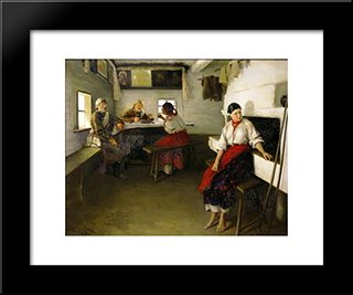 Go-Betweens: Modern Black Framed Art Print by Mykola Pymonenko