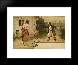 Going Home: Modern Black Framed Art Print by Mykola Pymonenko
