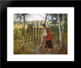 Jealousy: Modern Black Framed Art Print by Mykola Pymonenko