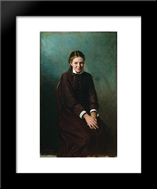 Girl Student: Modern Black Framed Art Print by Mykola Yaroshenko