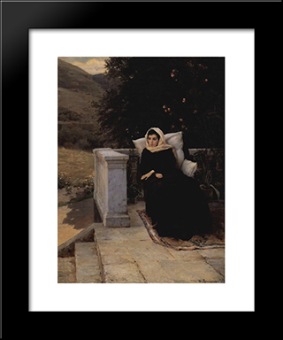 In The Warm Land: Modern Black Framed Art Print by Mykola Yaroshenko