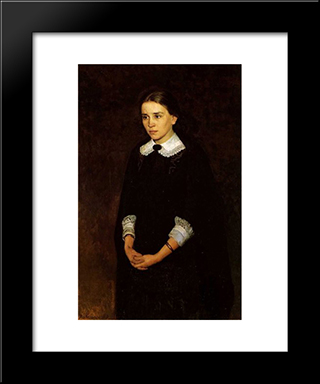 Portrait Of P.Strepetova: Modern Black Framed Art Print by Mykola Yaroshenko