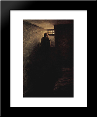 The Prisoner: Modern Black Framed Art Print by Mykola Yaroshenko