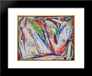 Untitled #2 (1947 - 1949): Modern Black Framed Art Print by Myron Stout