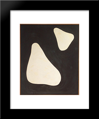 Untitled #5 (2 - 17 - 55): Modern Black Framed Art Print by Myron Stout