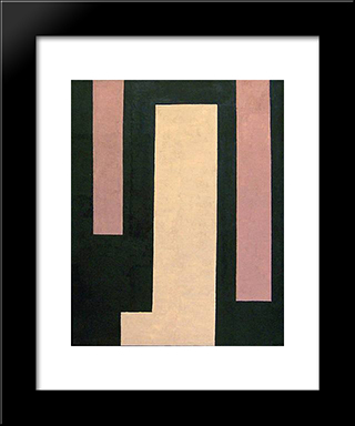 Untitled (April 15): Modern Black Framed Art Print by Myron Stout