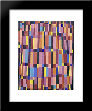 Untitled (May 20): Modern Black Framed Art Print by Myron Stout